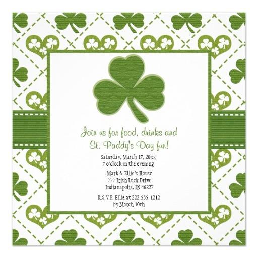 st patricks day party invitations 161344487155548951