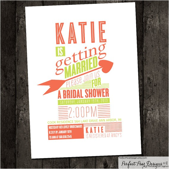 shabby chic poster style bridal shower