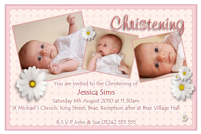christening invitation cards free