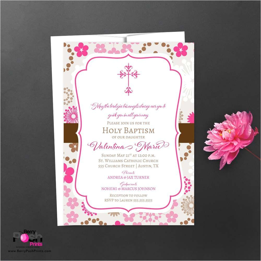 christening invitation card sample