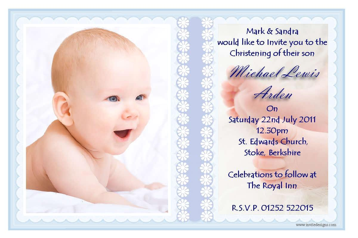 baptism invitation card