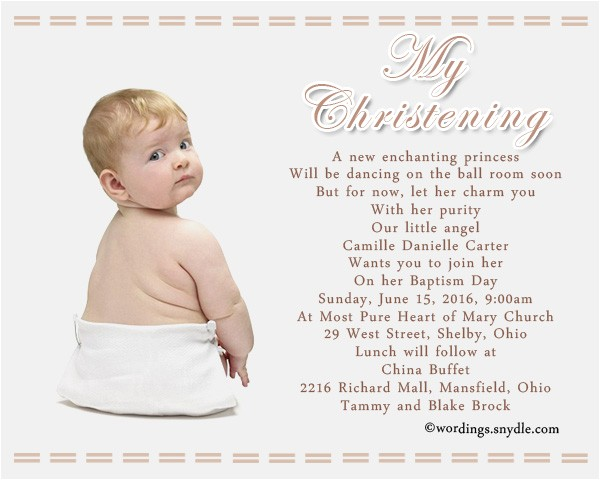 baptism invitation wording samples mh ments