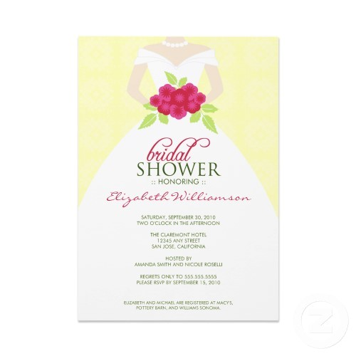 Sample Bridal Shower Invites Sample Bridal Shower Invitations Wording