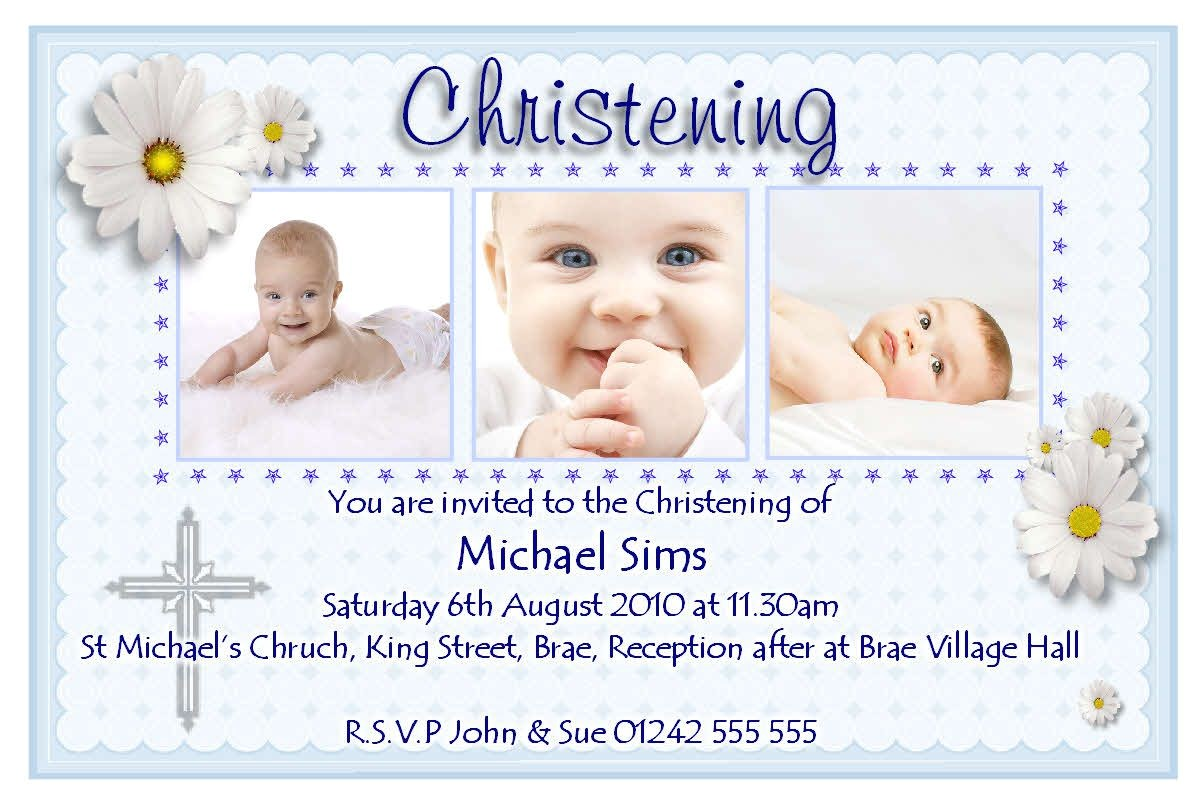 christening invitation cards design