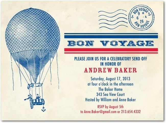 going away party invitation sample