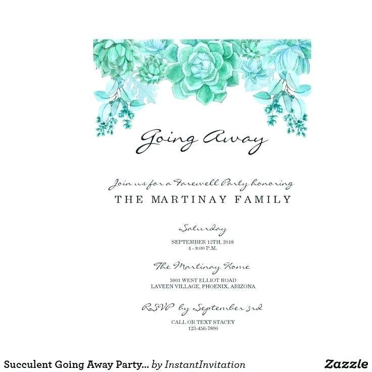 invitation templates going away party