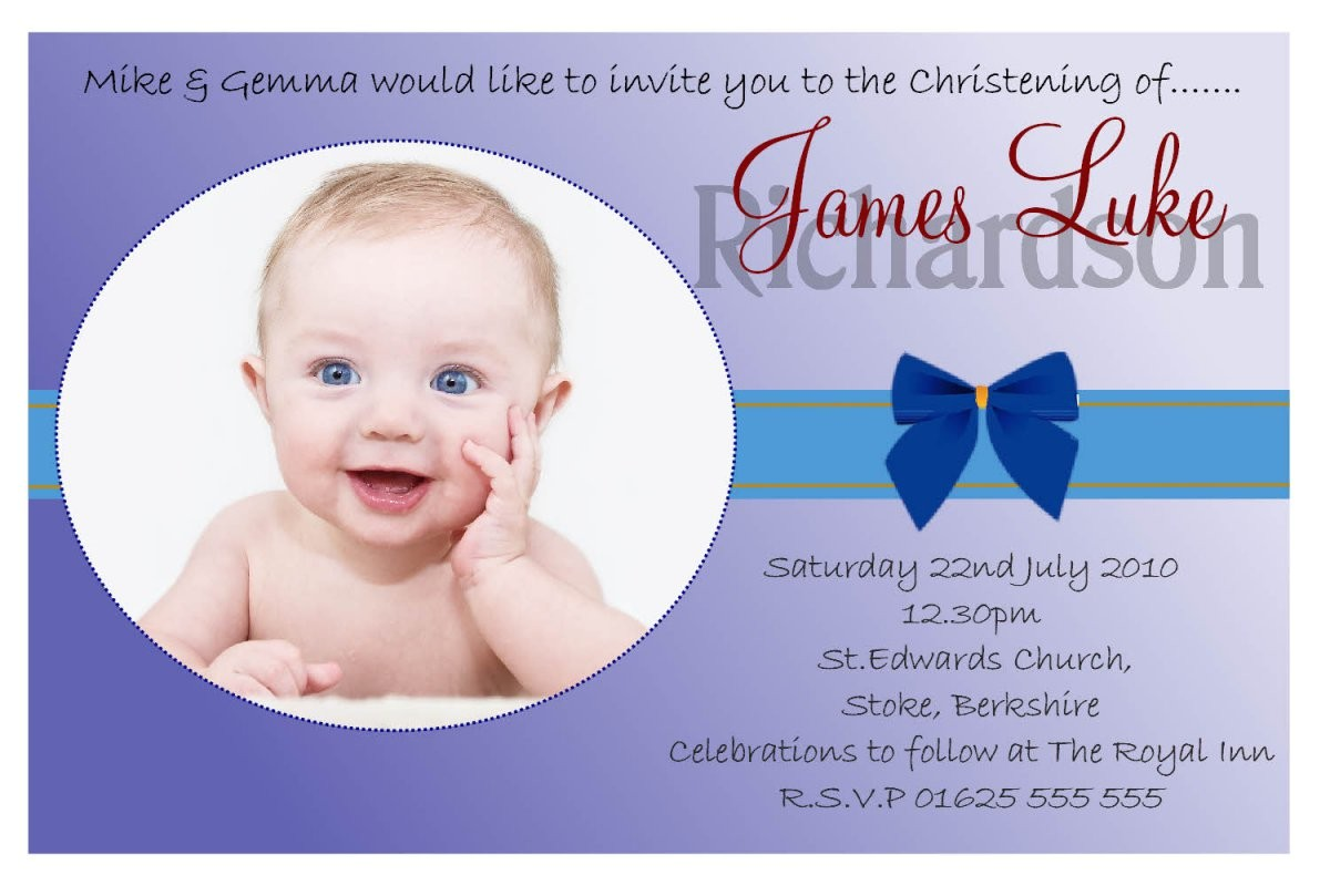 baptism invitation card for baby boy