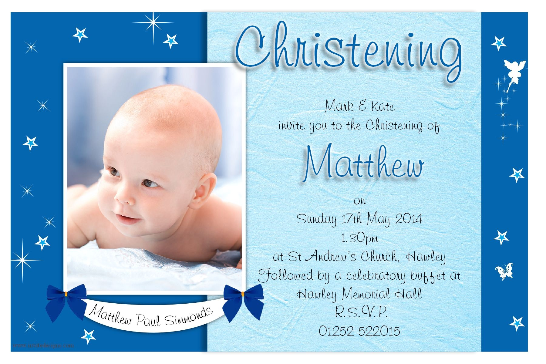 christening invitation cards