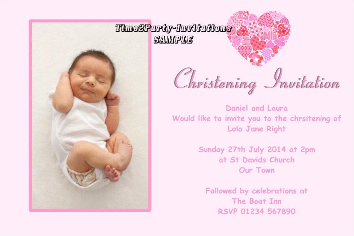 sample invitation for christening cards