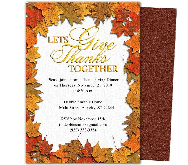thanksgiving party invitations templates