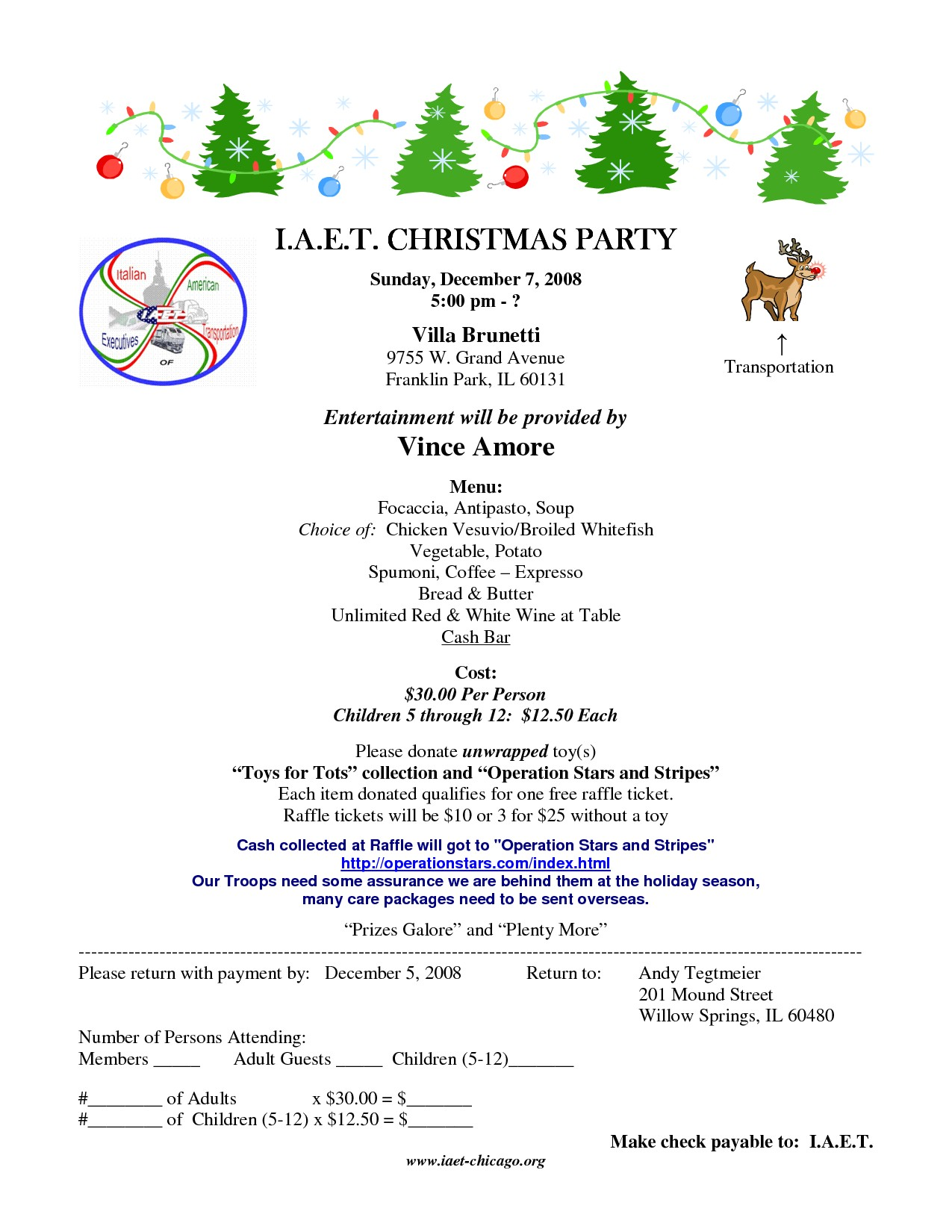 sample of invitation letter for christmas party