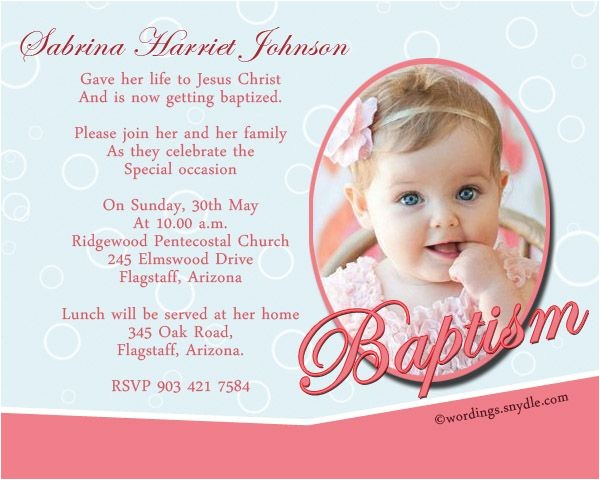 Sample Message for Baptism Invitation Baptism Invitation Wording Samples Wordings and Messages
