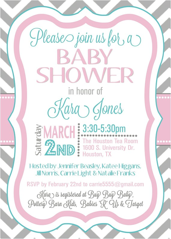 sample baby shower invitations