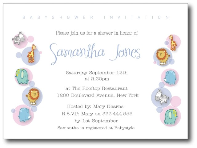 Sample Of Baby Shower Invitation Message Baby Shower Invitation Wording