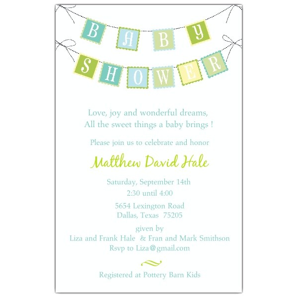 sample baby shower invitations wording