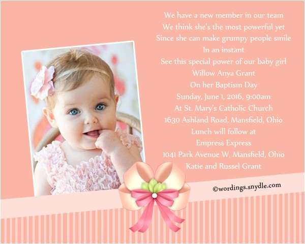 baptism invitation wording samples