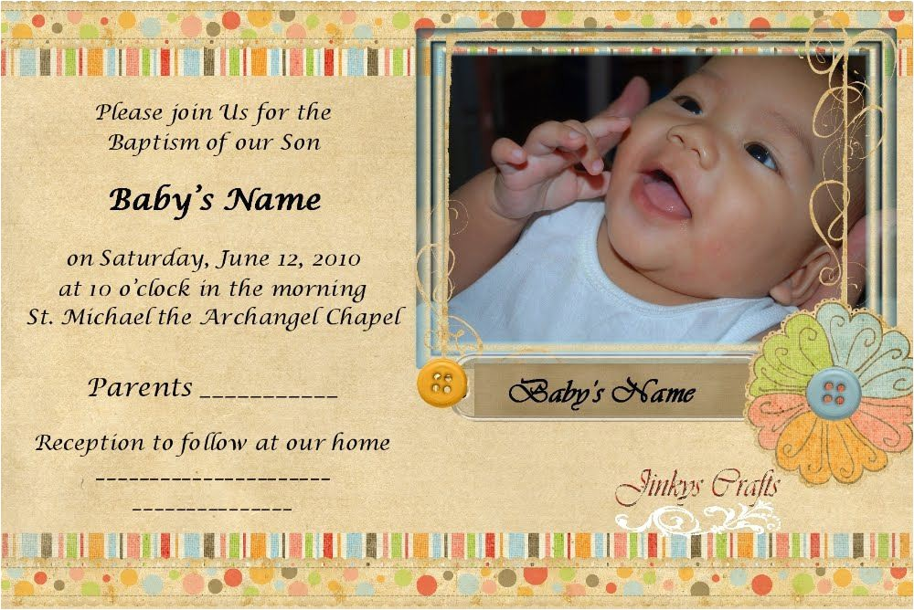 baptismal invitation card