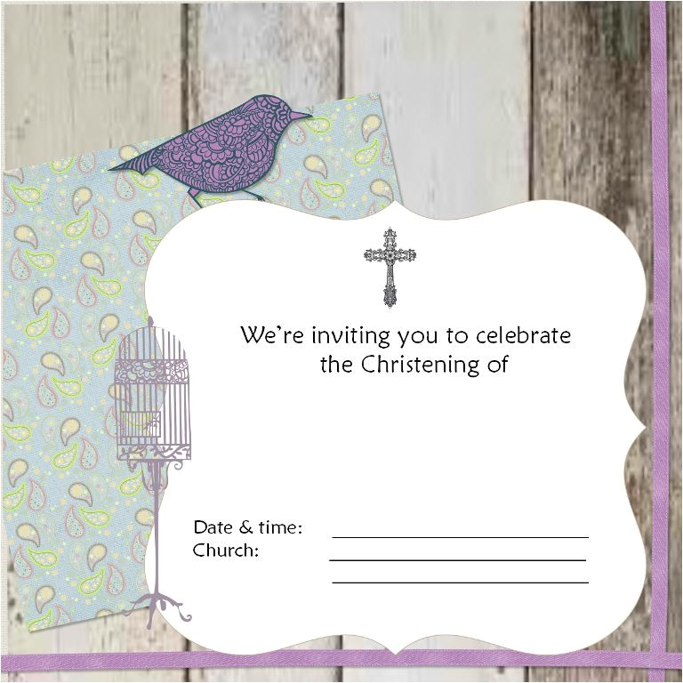 baptism invitation card 2