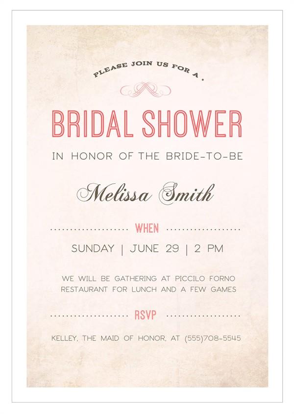 Sample Of Bridal Shower Invitation 30 Best Bridal Shower Invitation Templates