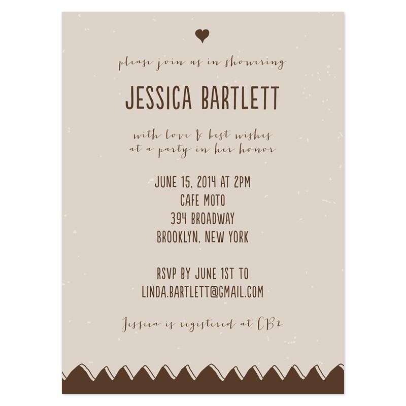 sample wedding shower invitations