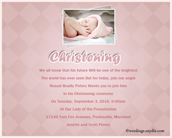 invitation text christening