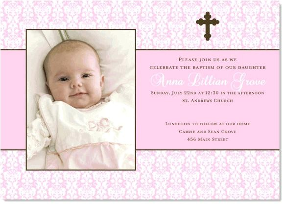 samples of baptismal invitations