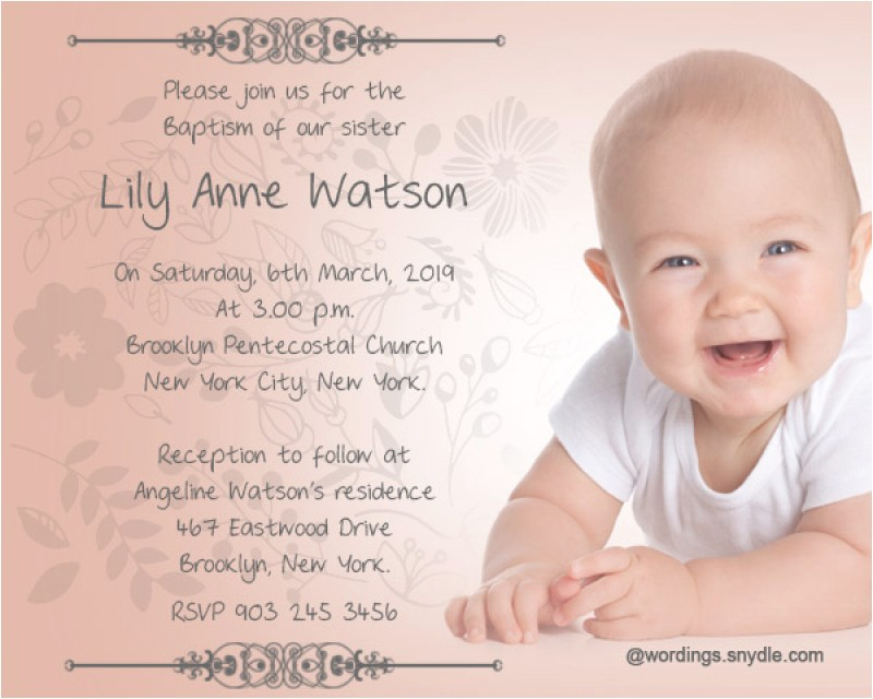 Samples Of Baptism Invitations Baptism Invitation Wording – Gangcraft