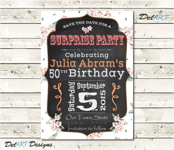 birthday party save the date invitation