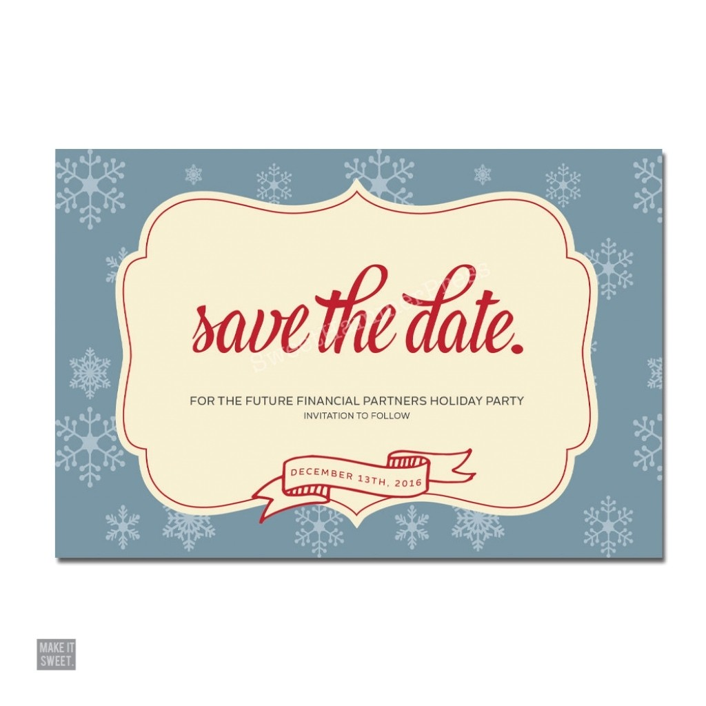 save the date party invites