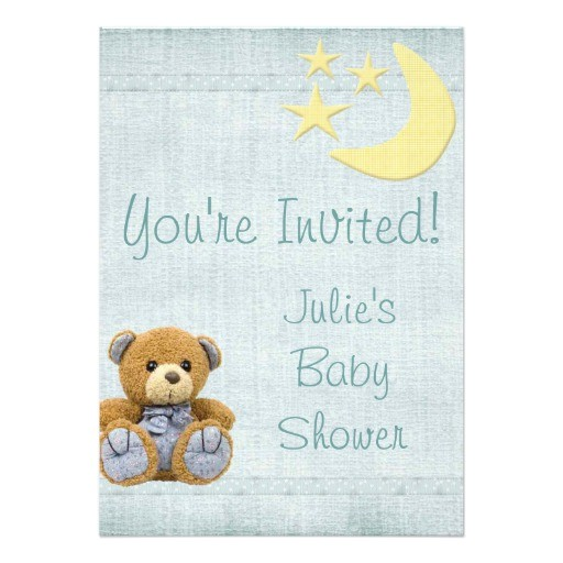 baby shower boy scrapbook invitation