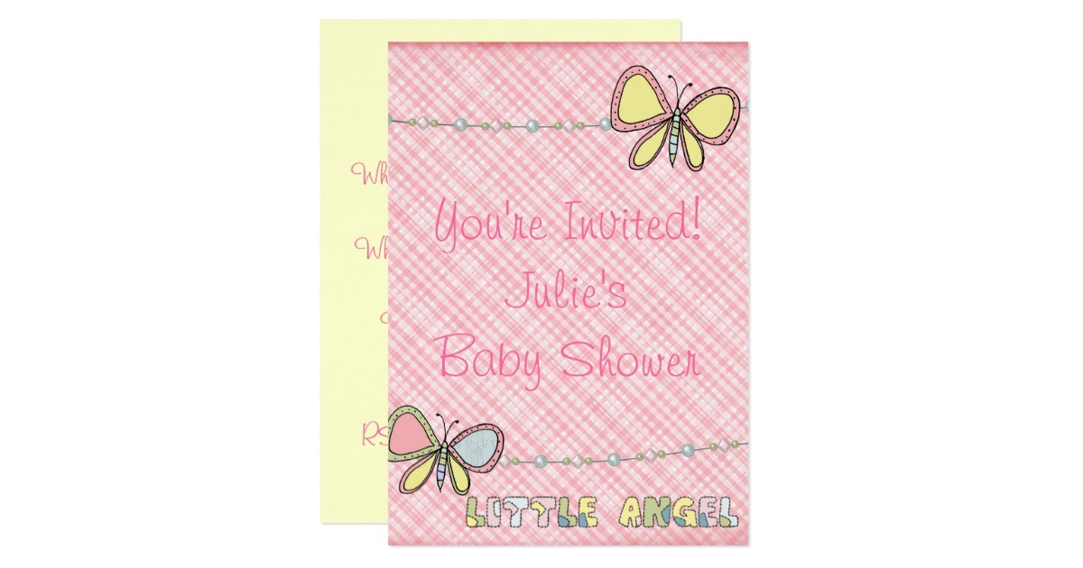 baby shower girl scrapbook invitation