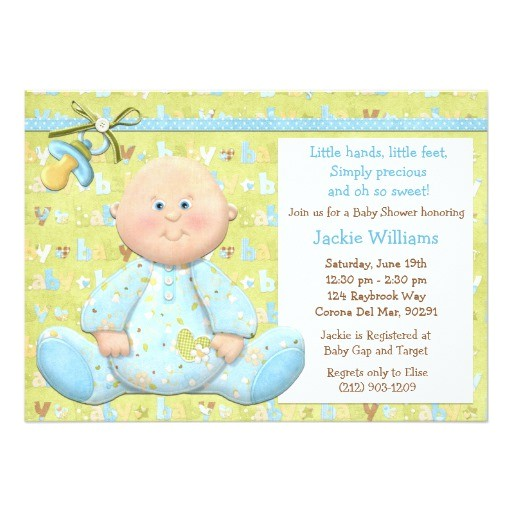 scrapbook style baby shower invitation
