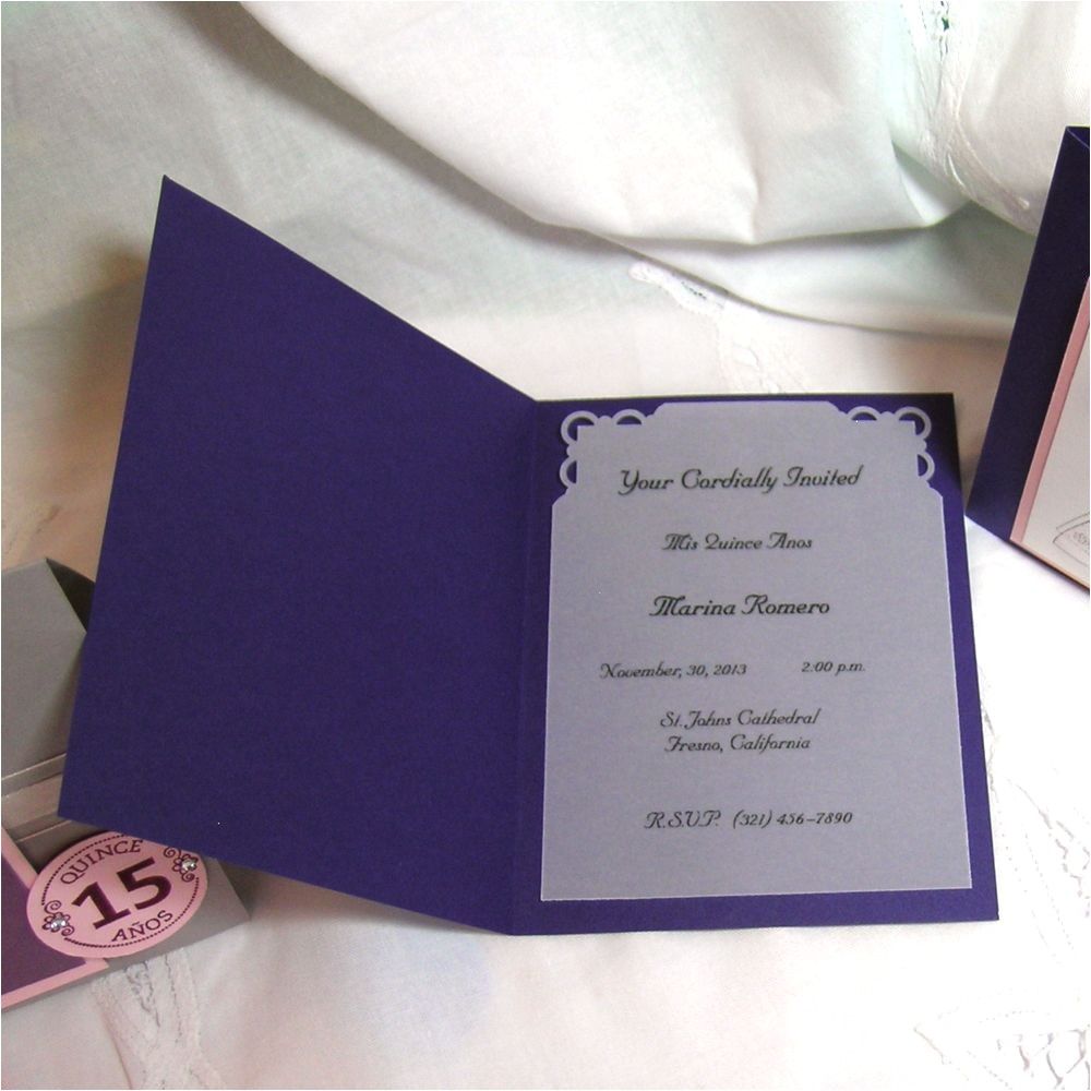 awesome quinceanera scroll invitations ideas