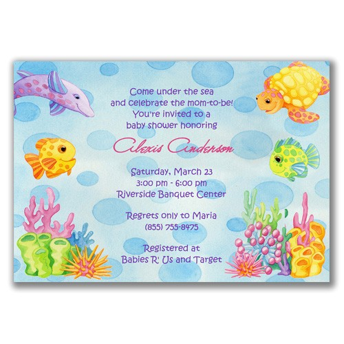 beach baby shower invitations