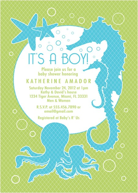 sea and ocean theme baby shower