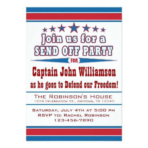 military deployment send off party invitation 161563000408236284