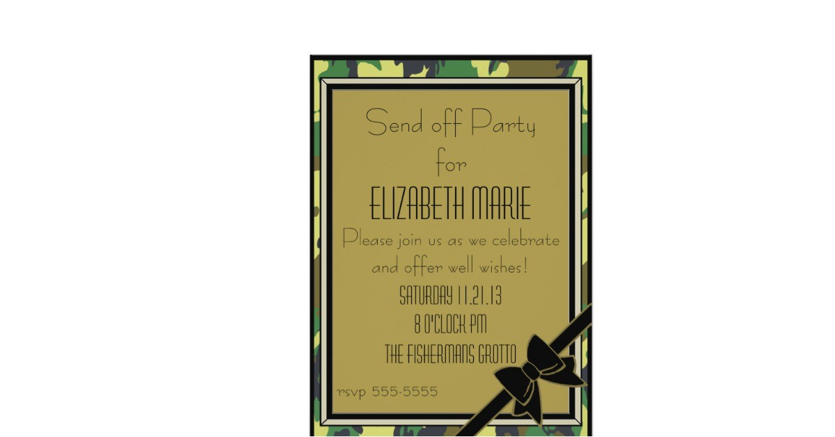 military send off party 5x7 paper invitation card 161742082539151602