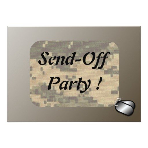 military send off party patriotic card 161549539796154042