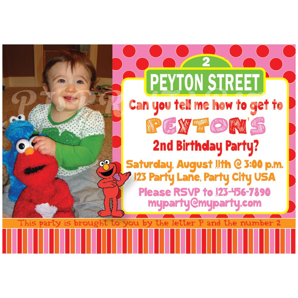 girly pink elmo sesame street birthday