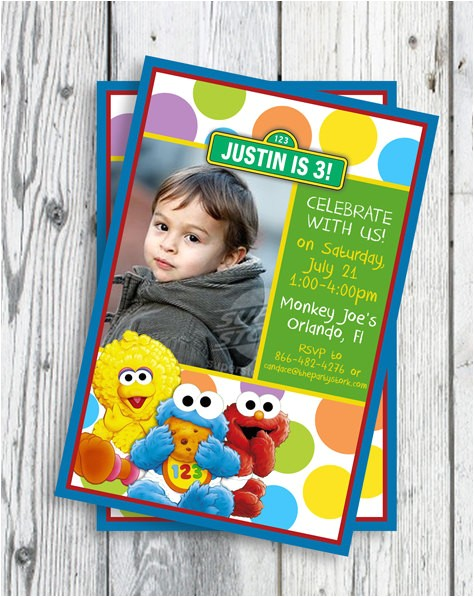 sesame street invitations printable