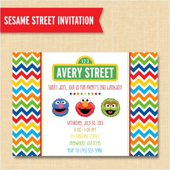 sesame street style friends birthday