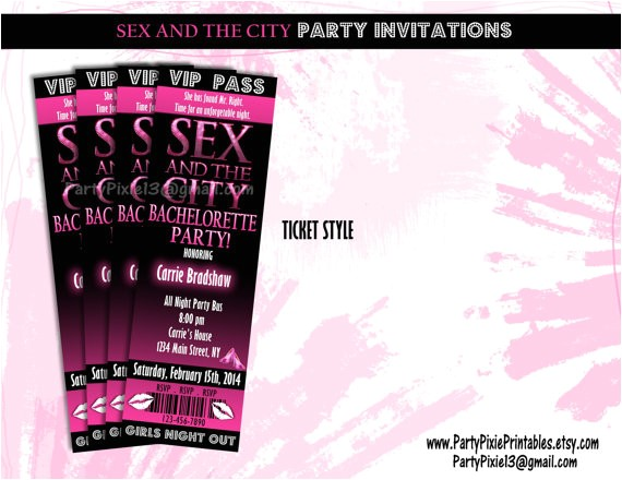 and the city party invitations