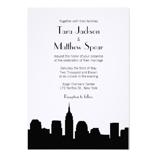 and city bridal shower invitations