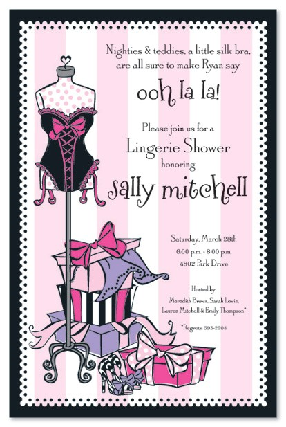 free naughty bridal shower invitations
