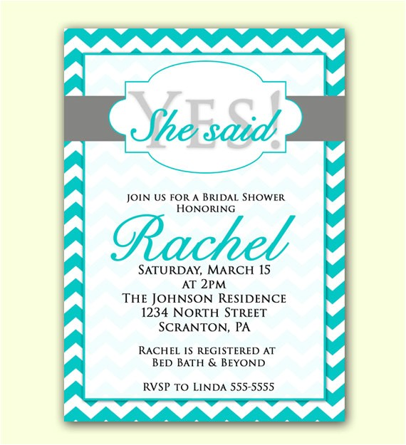 bridal shower invitation she said yes
