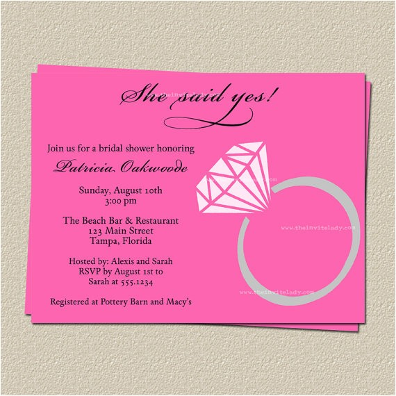 she said yes wedding shower invitations br feed tlp=weddings