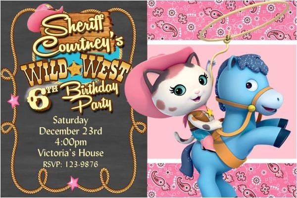 sheriff callies invitation birthday