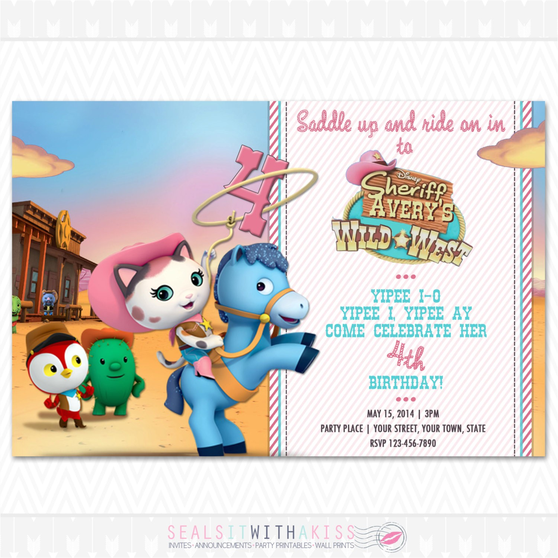 Sheriff Callie Party Invitations Sheriff Callie 39 S Wild West Birthday Invitation by