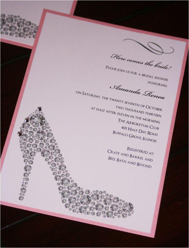 bling shoe bridal shower theme