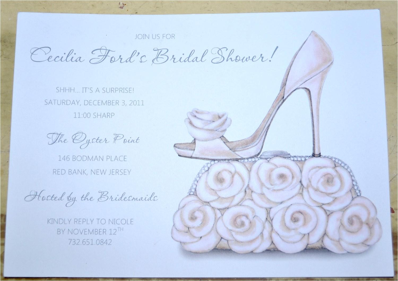 bridal shower invitations shoe theme